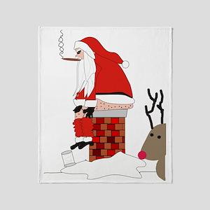 santa drawing gails Throw Blanket