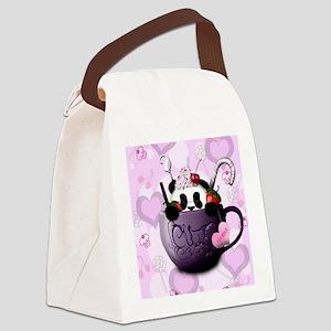 cute_hot_chocolate_panda_by_hazey Canvas Lunch Bag
