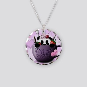 cute_hot_chocolate_panda_by_ Necklace Circle Charm
