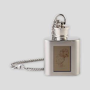 Wirehaired_Dachshund_Kline Flask Necklace