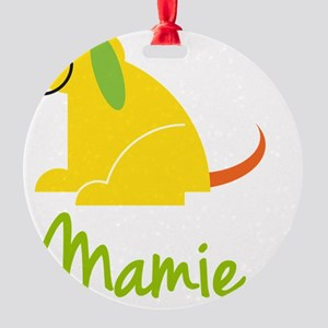 Mamie-loves-puppies Round Ornament