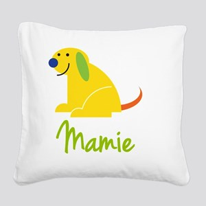 Mamie-loves-puppies Square Canvas Pillow