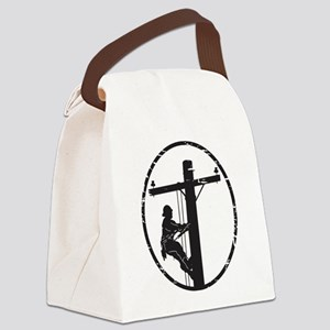 lineman born 1 Canvas Lunch Bag