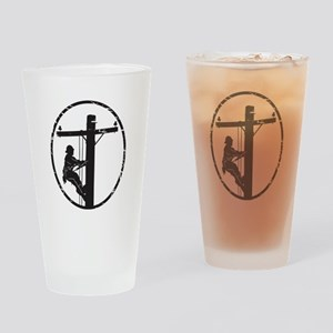 lineman born 1 Drinking Glass