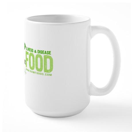 RawFood_design_dark_bgd copy Large Mug