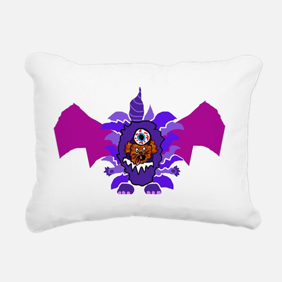 Purple People Eater Cost Rectangular Canvas Pillow
