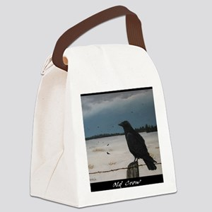 old-crow-poster2 Canvas Lunch Bag
