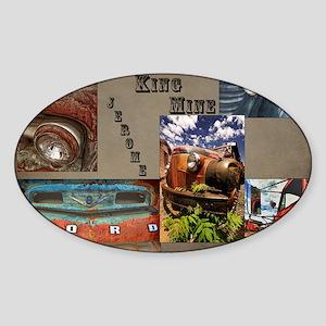 GOLD_KING_CALENDAR_11.5x9_print Sticker (Oval)