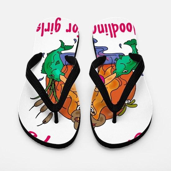 noodling is for girls Flip Flops