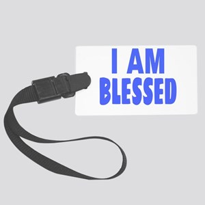 I Am Blessed Large Luggage Tag