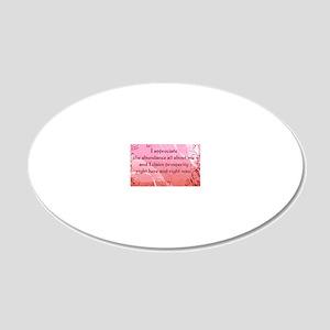 claim_prosperity-112011 20x12 Oval Wall Decal