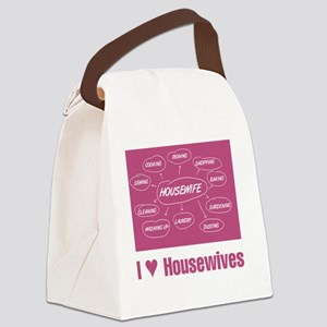 IHeartHousewives Canvas Lunch Bag