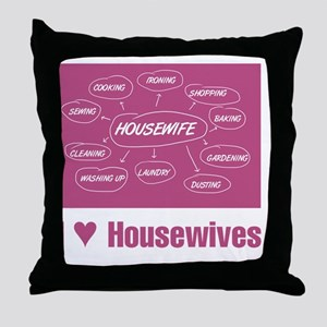IHeartHousewives Throw Pillow