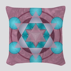 Merkaba_lrg_bleed Woven Throw Pillow