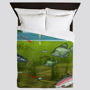 3-Baits-Red-Top-BEST Queen Duvet