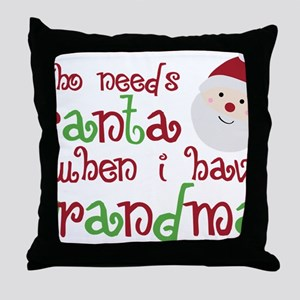 grandmasanta Throw Pillow