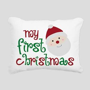firstchristmas Rectangular Canvas Pillow