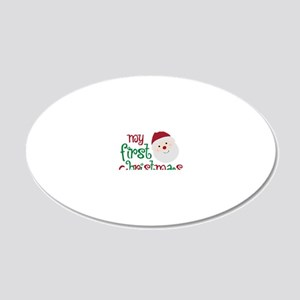 firstchristmas 20x12 Oval Wall Decal