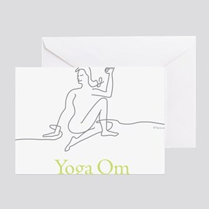 Yoga Om spinal twist Half Lord of th Greeting Card