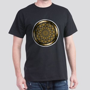 Golden Mandala Kaleidoscope Dark T-Shirt