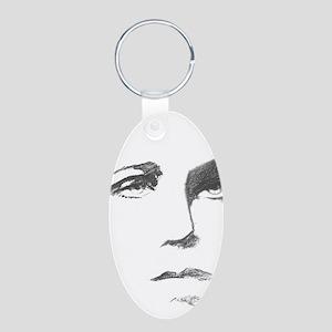 Arthur Rimbaud 10x10 Aluminum Oval Keychain