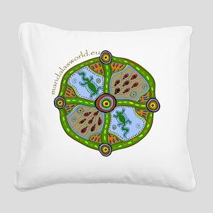 Aboriginal Mandala n1 Square Canvas Pillow