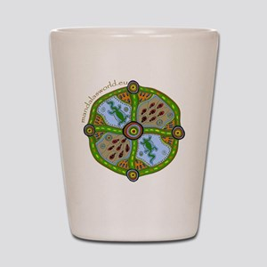 Aboriginal Mandala n1 Shot Glass