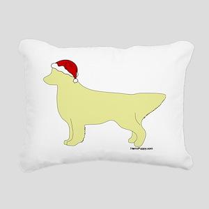 LightGoldenSanta Rectangular Canvas Pillow