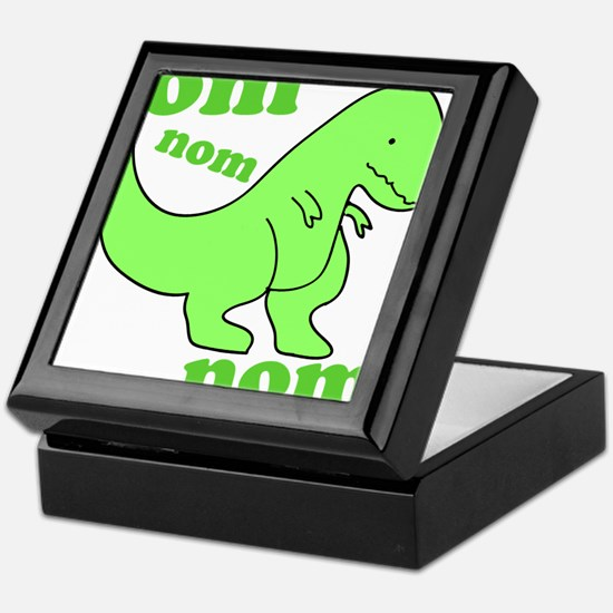 dinosaur-green-om-nom Keepsake Box