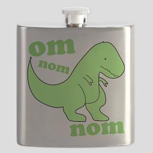 dinosaur-green-om-nom Flask