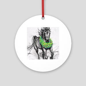 dashing through the snow holiday gi round ornament - Horse Christmas Ornaments