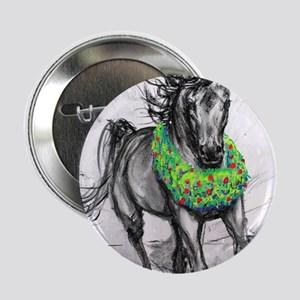 "Dashing Through The Snow Holiday Gift 2.25"" Button"