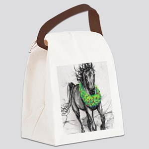 Dashing Through The Snow Holiday Canvas Lunch Bag