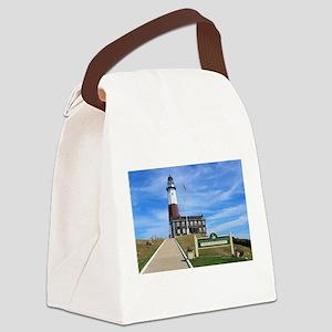 Montauk Lighthouse Canvas Lunch Bag