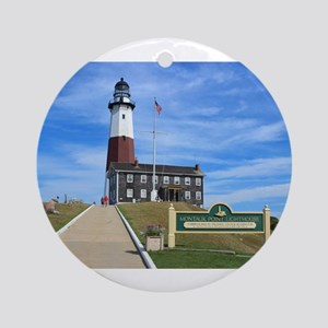 Montauk Lighthouse Round Ornament
