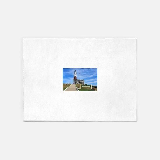 Montauk Lighthouse 5'x7'Area Rug