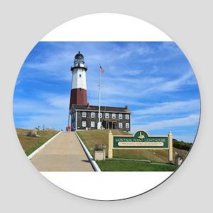 Montauk Lighthouse Round Car Magnet