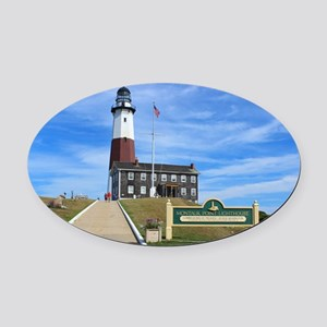 Montauk Lighthouse Oval Car Magnet