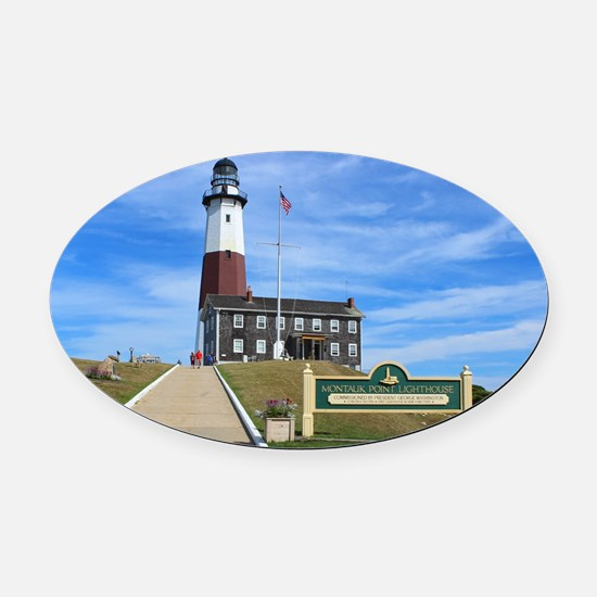 Montauk Lighthouse Oval Car Magnet