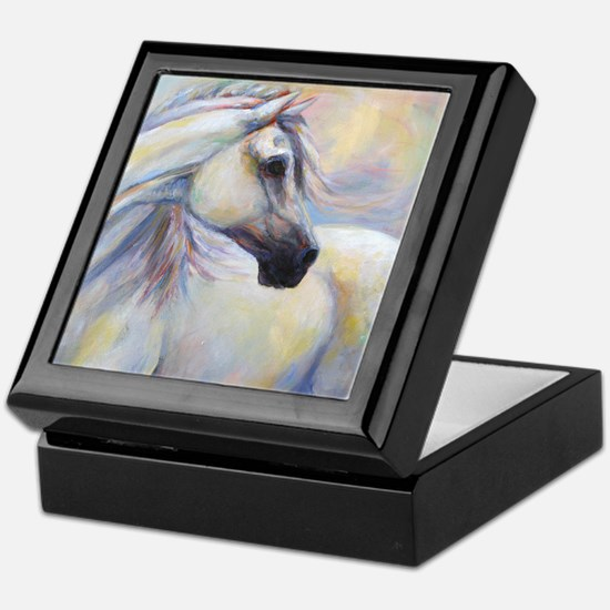 Heavenly Horse art by Janet Ferraro. Keepsake Box