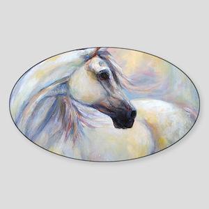 Heavenly Horse art by Janet Ferraro Sticker (Oval)