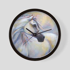 Heavenly Horse art by Janet Ferraro. Co Wall Clock