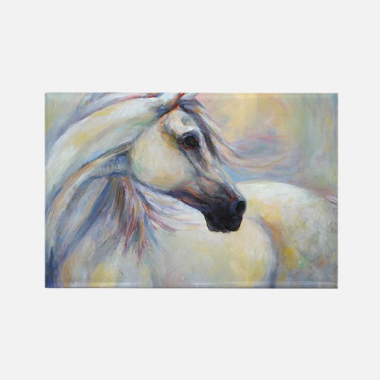 Heavenly Horse art by Janet Ferra Rectangle Magnet
