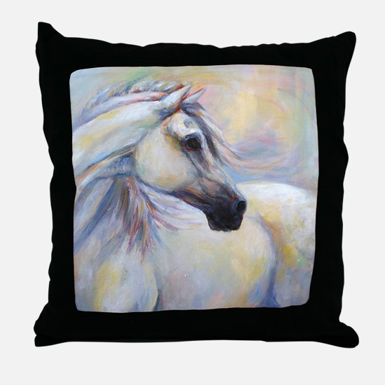 Heavenly Horse art by Janet Ferraro. Throw Pillow