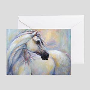 Heavenly Horse art by Janet Ferraro. Greeting Card