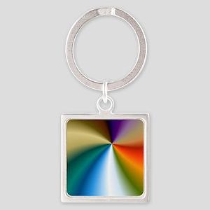 Rainbow Coin Purse Square Keychain