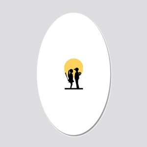 lover girl 20x12 Oval Wall Decal