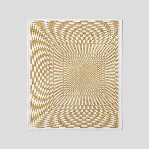 checks_Distorted_GoldWhite_flipFlop Throw Blanket