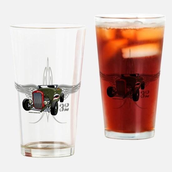 32 tiger SPEED 1-10-43light hatt 2 Drinking Glass