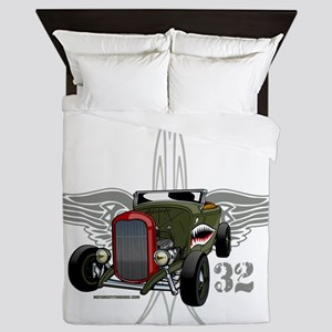 32 tiger SPEED 1-10-43light hatt 2 Queen Duvet